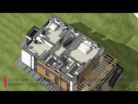 Проект дома 250 кв.м. с плоской крышей в г. Владивосток