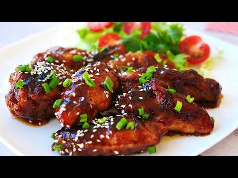Куриные Крылышки в соусе Терияки Съедаются как семечки - сложно оторваться! | Teriyaki Chicken Wings