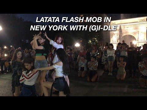 (G)I-DLE LATATA FLASHMOB IN NEW YORK , WASHINGTON SQUARE PARK