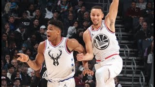 Steph's INSANE Bounce Pass Alley-Oop To Giannis! | 2019 NBA All-Star