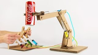 How to Make Hydraulic Powered Robotic Arm from Cardboard
