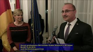 Susret predsjednice RH Kolinde Grabar Kitarović s Hrvatima - Berlin 19.02.2019.