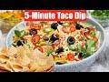 5-Minute Taco Dip Make-ahead + Seasoning & Festive Salsa Video Recipes Bhavnas Kitchen