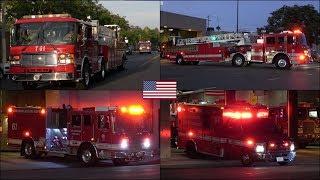 Earthquake Mode - LAFD Station 61's fire trucks responding