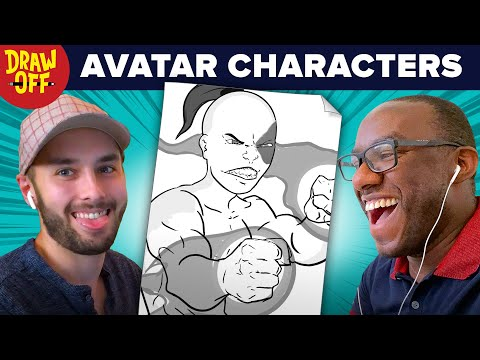 Animator vs. Cartoonist Draw Avatar TLA Characters From Memory • Draw-Off