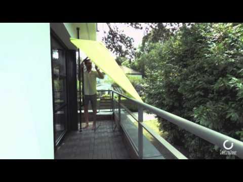 parasol de balcon leo anis youtube. Black Bedroom Furniture Sets. Home Design Ideas