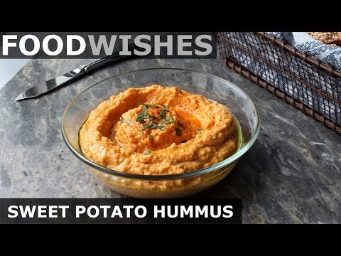 "Sweet Potato ""Hummus"" - Food Wishes - Easy Beanless Hummus"