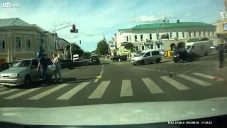 Lucky Biker Lands on Car Roof After Crash [Real Life Stuntman]