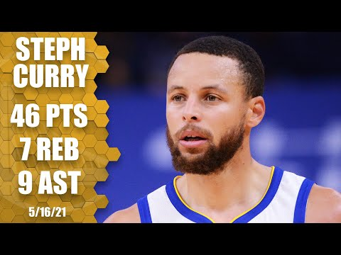 Steph Curry's HUGE game clinches scoring title and helps Warriors get No. 8 spot | NBA Highlights