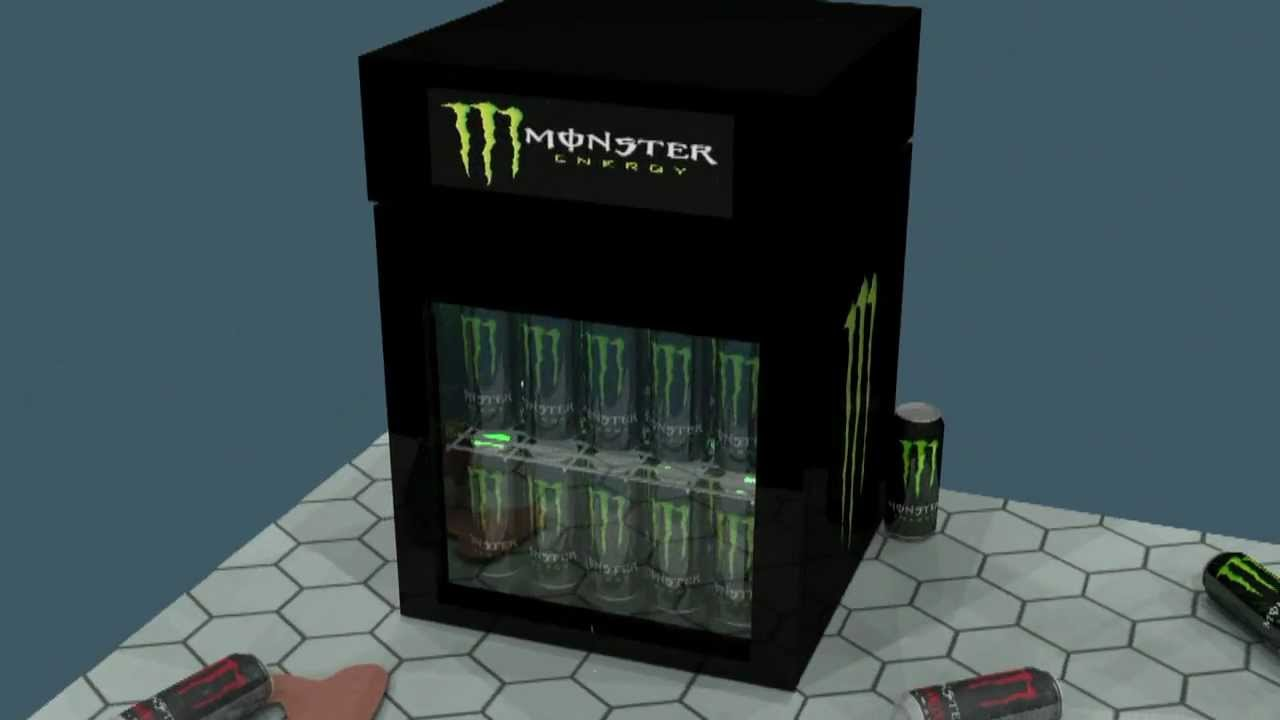 Monster Energy K 252 Hlschrank 3d Animation Youtube