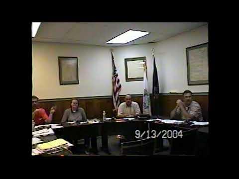 Champlain Village Board Meeting  9-13-04