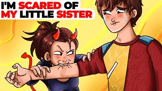 I'm Scared of My Little Sister | Animated Story about Cruel Sibling