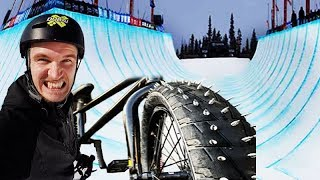 THE DEADLY BMX TIRES VS MEGA HALF PIPE (FLAIR)
