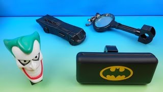 1996 BATMAN and ROBIN SET OF 4 McDONALD'S BIKE ACCESSORIES KIDS MEAL TOYS VIDEO REVIEW