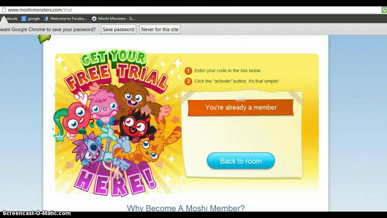 Game description: Do you play Moshi Monsters online? Do you need Moshi Monsters Membership? If you do then you are come to right place where you can get free Moshi Monsters Membership codes qucikly and blogdumbwebcs.tk time we decide to make another popular membership generator for all fans of Moshi blogdumbwebcs.tk know that a lot of people searching easy ways to get Memberhip Monster Card codes.