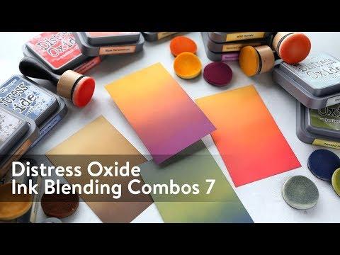 Distress Oxide Ink Blending Color Combinations 7
