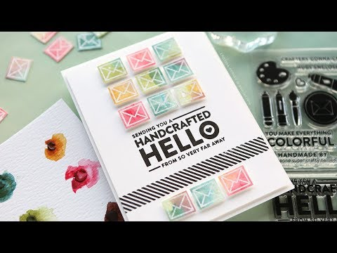 Repeated Watercolor Images – Simon Says Stamp February 2018 Card Kit