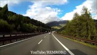 Driving Through Alps From Vipiteno / Sterzing Italy To Sindelsdorf Germany