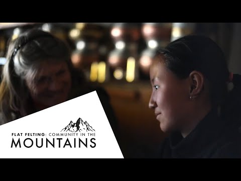 At Home In The Mountains: Flat Felting Community Project