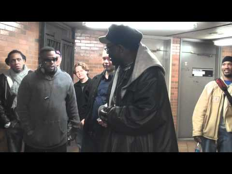 Hip Hop Subway Series - Lord Have Mercy - Train Platform Freestyle - 2/21/10