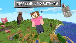 Beating Minecraft But Gravity Is Unstable!