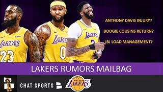 Lakers Rumors: Boogie Cousins Return, Anthony Davis Injury & LeBron Load Management | Mailbag
