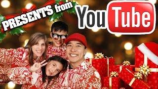 YouTube CHRISTMAS PRESENTS! Tree Decorating + Hot Chocolate on a Stick! #YouTubeFamilyPhoto