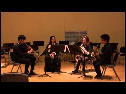 Quatuor pour Saxophones, Op. 102 by Florent Schmitt [Poongizina Saxophone Quartet]