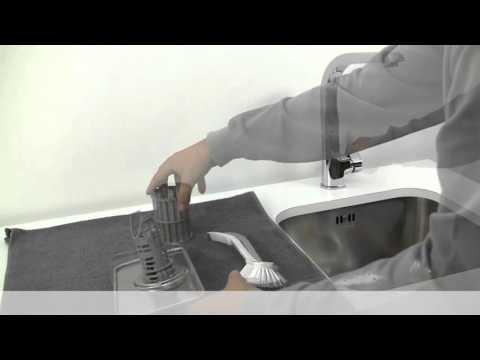 Hvordan renser jeg silene i oppvaskmaskinen?