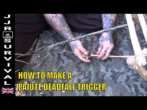 How To Make A Paiute Deadfall Trap Trigger