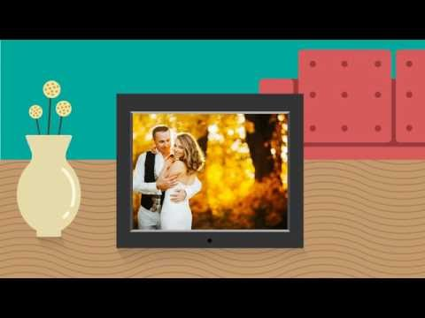 8 inch Slim Digital Photo Frame with Auto Slideshow Feature - Product Spotlight Video