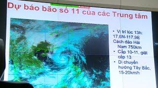 Tin bão Mới Nhất Đêm 14/10/2017 : Chủ động các phương án ứng phó với cơn bão số 11