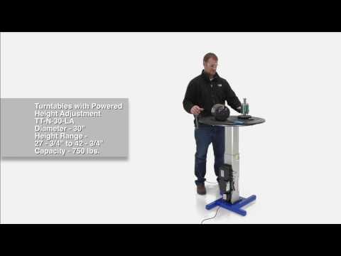 Turntables with Powered Height Adjustment TT-N-30-LA
