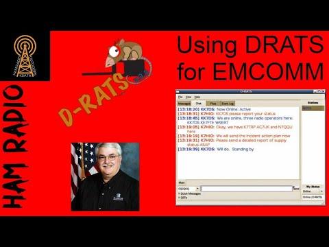 Using DRATS for EMCOMM