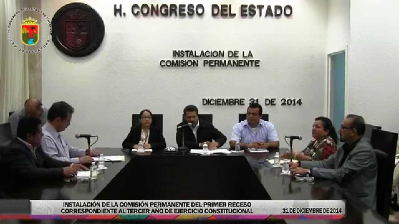 Instalación de la Comisión Permanente 31 de Diciembre de 2014