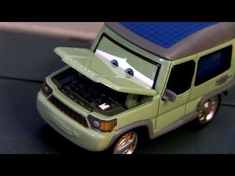Cars 2 Miles Axlerod With Open Hood Chase Diecast 2013 From Palace Chaos Disney Pixar Cartoys Review - Smashpipe Entertainment