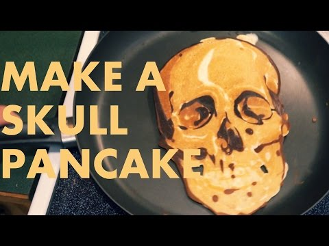 Baixar How to make a SKULL PANCAKE (Pancake Art Tutorial)