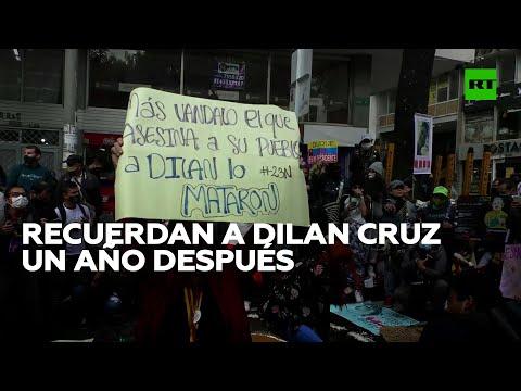 Protestas en Bogotá para recordar al fallecido Dilan Cruz un año después