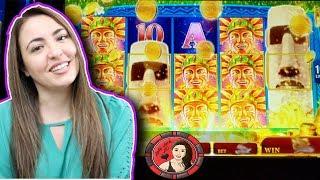 MOAI JACKPOT HANDPAY on a Slot Machine Line Hit