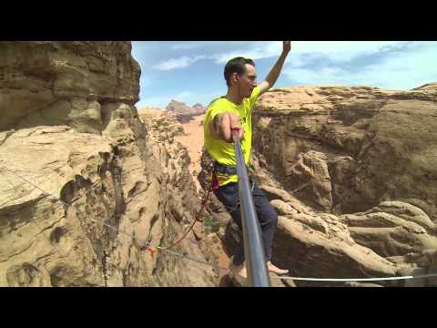First highline in Jordan