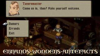 Final Fantasy Tactics: The War Of The Lions - ERRANDS- WONDERS-ARTEFACTS😀