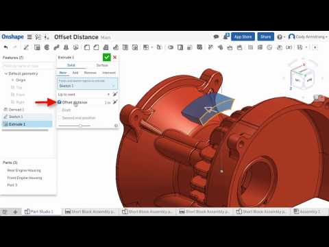 What's New in Onshape (February 13th, 2017) Offset Distance