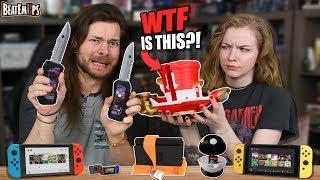 I Buy MY Girlfriend WEIRD Nintendo Switch Accessories!