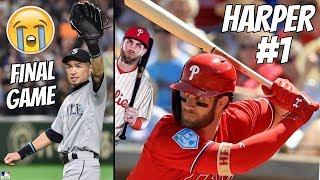 Ichiro RETIRES + Bryce Harper FIRST Phillies Home Run (MLB)