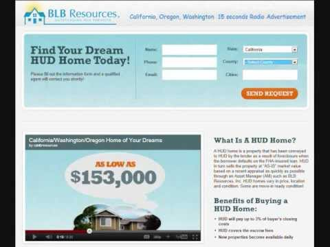 HUD Homes - California, Oregon Washington Radio Commercial - 15 seconds