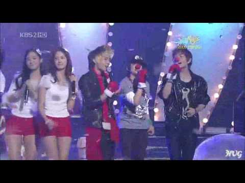 SHINee, SNSD & F(x) - Gee & Jingle Bell Rock (Christmas Special)