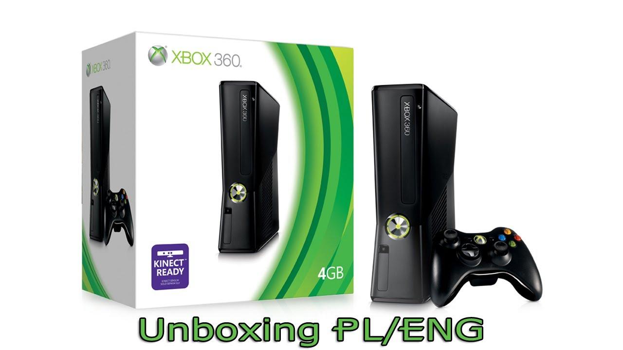 Xbox 360 4GB Slim - Unboxing PL/ENG - YouTube