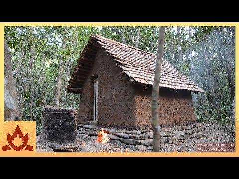 Primitive Technology: Tiled Roof Hut Poster