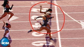 Inches decide blistering women's 200m at 2019 NCAA Outdoor Championship