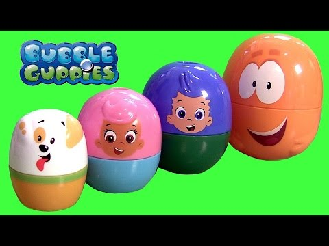 Bubble Guppies Stacking Cups Surprise Eggs Nickelodeon Mr. Grouper & Guppy Puppy by DCToysCollector